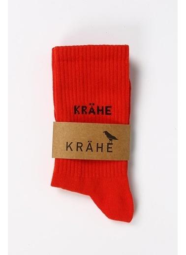 Krähe Çorap Kırmızı